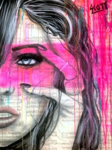 portrait painting with color flash